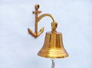 Handcrafted Model Ships BL-2018-3-BR Brass Hanging Anchor Bell 12