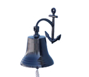 Handcrafted Model Ships Bl-2018-4-black Oil Rubbed Bronze Hanging Anchor Bell 16