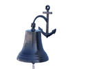Handcrafted Model Ships Bl-2018-5-black Oil Rubbed Bronze Hanging Anchor Bell 21