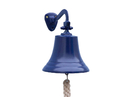 Handcrafted Model Ships BL-2019-9-Blue Solid Brass Hanging Ships Bell 11