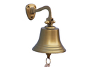 Handcrafted Model Ships BL-2050-5AN Antique Brass Hanging Ship's Bell 6