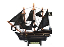 Handcrafted Model Ships Black-Pearl-7-Xmas Wooden Black Pearl Pirates Of The Caribbean Model Pirate Ship Christmas Ornament 7&Quot;