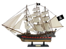 Handcrafted Model Ships Black-Prince-26-White-Sails Wooden Ben Franklin'S Black Prince White Sails Limited Model Pirate Ship 26&Quot;
