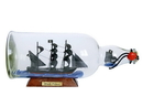 Handcrafted Model Ships Black-Prince-Bottle-11 Ben Franklin'S Black Prince Model Ship In A Glass Bottle 11&Quot;