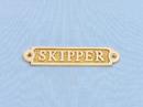 Handcrafted Model Ships BR48235 Brass Skipper Sign 5