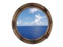 """Handcrafted Model Ships Bronzed Porthole - 24 - W Bronzed Porthole Window 24"""""""