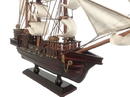 Handcrafted Model Ships Caribbean-Pirate-15-White-Sails Wooden Caribbean Pirate White Sails Model Ship 15