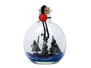 Handcrafted Model Ships Caribbean-Pirate-Bottle-4-Xmas Caribbean Pirate Model Ship In A Glass Bottle Christmas Ornament 4&Quot;