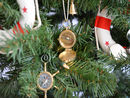 Handcrafted Model Ships CO-0591-XMASS Solid Brass Magellan Compass Christmas Tree Ornament