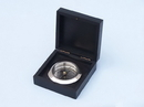 Handcrafted Model Ships CO-0609A-CH Chrome Captain'S Desk Compass W/ Black Rosewood Box 4&Quot;