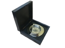 Handcrafted Model Ships CO-0609B-CH Chrome Admiral'S Desk Compass W/ Black Rosewood Box 5&Quot;