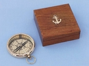 Handcrafted Model Ships CO-0635-Box Solid Brass Beveled Lensatic Compass w/ Rosewood Box 4