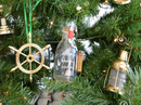 Handcrafted Model Ships ConBottle5-XMASS USS Constitution Model Ship in a Glass Bottle Christmas Tree Ornament