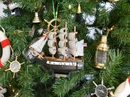Handcrafted Model Ships Constitution-7-XMASS Wooden USS Constitution Model Ship Christmas Tree Ornament
