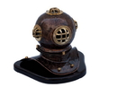 Handcrafted Model Ships DH-0824-AC Antique Copper Seascape Diver'S Helmet 11