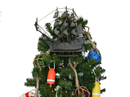 Handcrafted Model Ships Dutchman 14-XMASS Wooden Flying Dutchman Model Pirate Ship Christmas Tree Topper Decoration