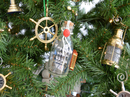 Handcrafted Model Ships FCBottle5-XMASS Flying Cloud Model Ship in a Glass Bottle Christmas Tree Ornament