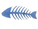 Handcrafted Model Ships Fishbone-25-dark-blue Wooden Rustic Dark Blue Fishbone Wall Mounted Decoration 25