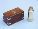 "Handcrafted Model Ships FT-0240 Deluxe Class Scout's Brass Spyglass Telescope 7"" w/ Rosewood Box"