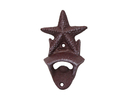 Handcrafted Model Ships G-20-028-RED Rustic Red Cast Iron Wall Mounted Starfish Bottle Opener 6