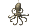 Handcrafted Model Ships G-54-717-GOLD Rustic Gold Cast Iron Wall Mounted Octopus Hooks 7