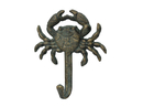 Handcrafted Model Ships G-54-725-BRONZE Antique Seaworn Bronze Cast Iron Wall Mounted Crab Hook 5