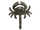 Handcrafted Model Ships G-54-725-gold Rustic Gold Cast Iron Wall Mounted Crab Hook 5&Quot;