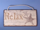 Handcrafted Model Ships GF-6037 Tin Relax Sign 8""