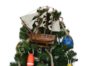 Handcrafted Model Ships HMS Beagle 14-XMASS Wooden Charles Darwin's HMS Beagle Model Ship Christmas Tree Topper Decoration