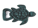 Handcrafted Model Ships K-001-seaworn Seaworn Blue Cast Iron Turtle Bottle Opener 4.5