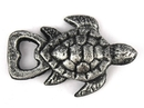 Handcrafted Model Ships K-001-silver Antique Silver Cast Iron Turtle Bottle Opener 4.5