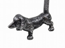 Handcrafted Model Ships K-0029A-Silver Rustic Silver Cast Iron Dog Paper Towel Holder 12