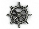 Handcrafted Model Ships K-005-silver Antique Silver Cast Iron Ship Wheel Bottle Opener 3.75
