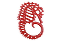 Handcrafted Model Ships K-0055-red Rustic Red Cast Iron Seahorse Trivet 6