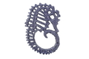 Handcrafted Model Ships K-0055-Solid-Dark-Blue Rustic Dark Blue Cast Iron Seahorse Trivet 6&Quot;