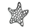Handcrafted Model Ships K-0056-silver Antique Silver Cast Iron Starfish Trivet 7