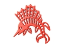 Handcrafted Model Ships K-0068-red Rustic Red Cast Iron Marlin Trivet 8