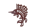 Handcrafted Model Ships K-0068-WW-Red Red Whitewashed Cast Iron Marlin Trivet 8