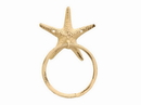Handcrafted Model Ships K-0102D-AG Aged White Cast Iron Starfish Towel Holder 8.5