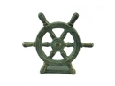 Handcrafted Model Ships K-013-bronze Antique Bronze Cast Iron Ship Wheel Door Stopper 9