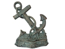 Handcrafted Model Ships K-0136-bronze Antique Seaworn Bronze Cast Iron Anchor Door Stopper 8
