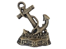 Handcrafted Model Ships K-0136-gold Antique Gold Cast Iron Anchor Door Stopper 8