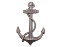 Handcrafted Model Ships K-0137-RC Rustic Copper Cast Iron Anchor 17&Quot;