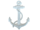Handcrafted Model Ships K-0137-W Whitewashed Cast Iron Anchor 17&Quot;