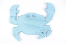 Handcrafted Model Ships K-0145A-Dark-Blue Rustic Dark Blue Whitewashed Cast Iron Crab Trivet 11&Quot;