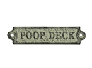 Handcrafted Model Ships K-0164-white Whitewashed Cast Iron Poop Deck Sign 6