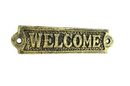 Handcrafted Model Ships K-0164G-Gold Rustic Gold Cast Iron Welcome Sign 6