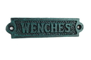 Handcrafted Model Ships K-0164H-Seaworn Seaworn Blue Cast Iron Wenches Sign 6