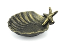Handcrafted Model Ships K-019-gold Antique Gold Cast Iron Shell With Starfish Decorative Bowl 6