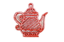 Handcrafted Model Ships K-0267-Red Rustic Red Cast Iron Teapot Trivet 9&Quot;